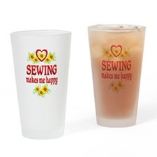 Sewing Happiness Drinking Glass
