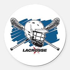 Lacrosse Attitude Round Car Magnet