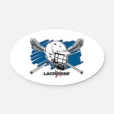 Lacrosse Attitude Oval Car Magnet