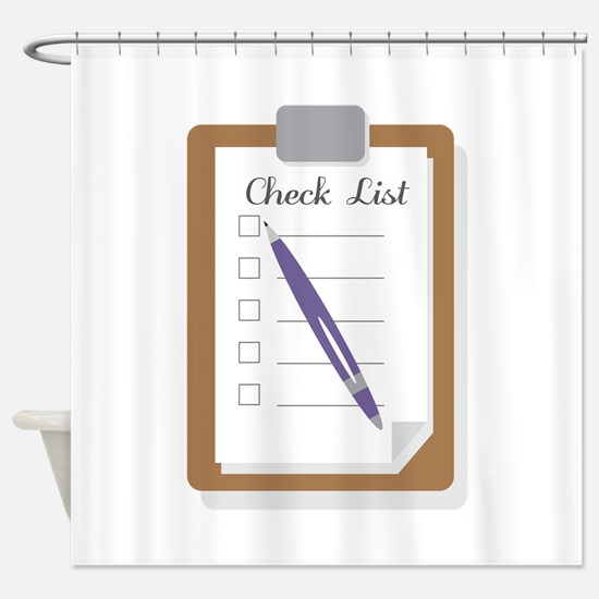 Check List Shower Curtain