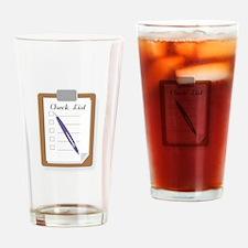 Check List Drinking Glass