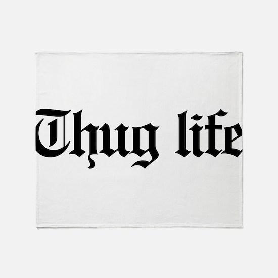 thug life, gangster, baby, g, thug, Throw Blanket