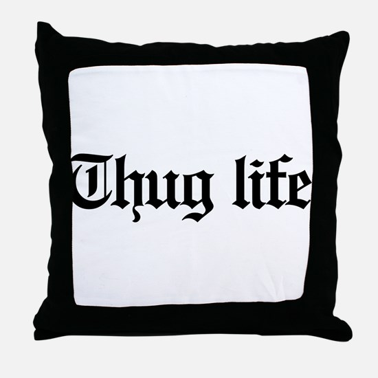 thug life, gangster, baby, g, thug, Throw Pillow