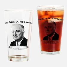 FDR: Self-Interest Drinking Glass