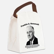 FDR: Self-Interest Canvas Lunch Bag