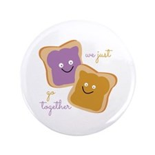 """We Go Together 3.5"""" Button (100 pack)"""
