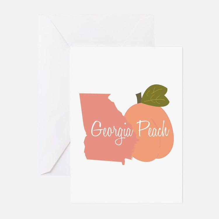 Georgia Peach Greeting Cards