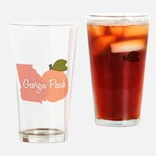 Georgia Peach Drinking Glass
