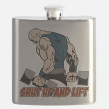 Shut Up and Lift Weightlifter Flask