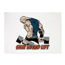 Shut Up and Lift Weightlifter 5'x7'Area Rug