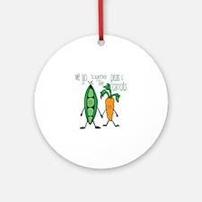 Peas & Carrots Ornament (Round)