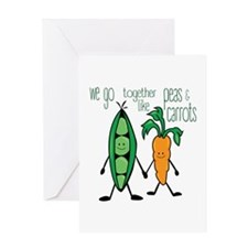 Peas & Carrots Greeting Cards