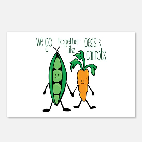 Peas & Carrots Postcards (Package of 8)