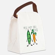 Peas & Carrots Canvas Lunch Bag