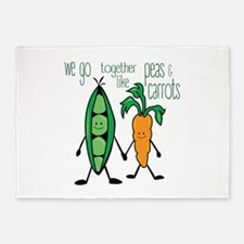 Peas & Carrots 5'x7'Area Rug