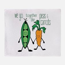 Peas & Carrots Throw Blanket