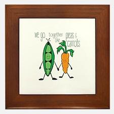 Peas & Carrots Framed Tile