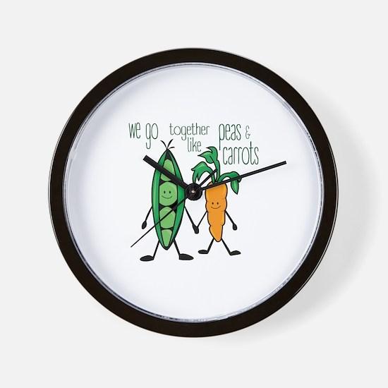 Peas & Carrots Wall Clock
