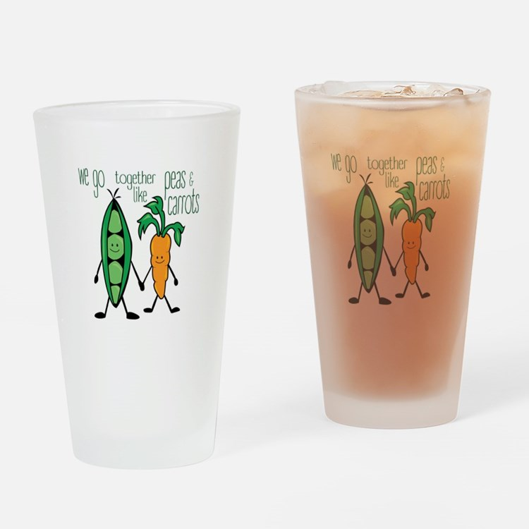 Peas & Carrots Drinking Glass