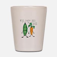 Peas & Carrots Shot Glass