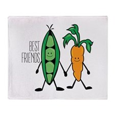 Best Frriends Throw Blanket