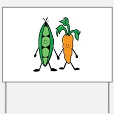 Carrot & Peas Yard Sign