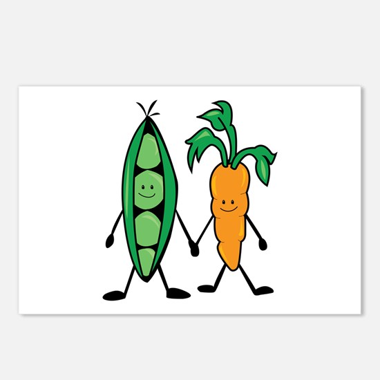 Carrot & Peas Postcards (Package of 8)