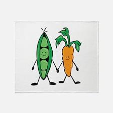 Carrot & Peas Throw Blanket