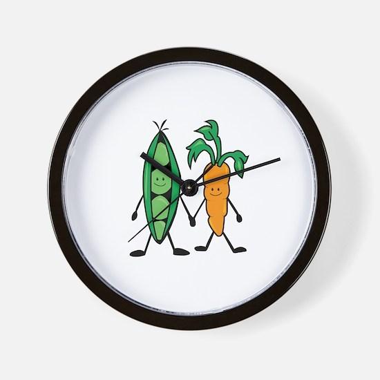 Carrot & Peas Wall Clock