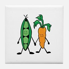 Carrot & Peas Tile Coaster