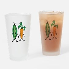 Carrot & Peas Drinking Glass
