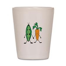 Carrot & Peas Shot Glass
