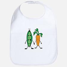 Carrot & Peas Bib