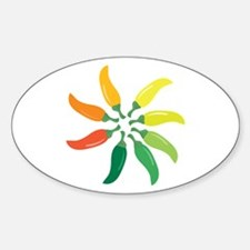 Colorful Peppers Decal
