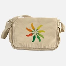 Colorful Peppers Messenger Bag