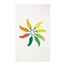 Colorful Peppers Area Rug