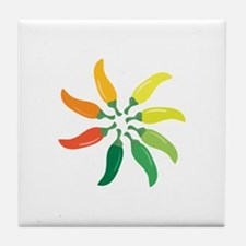 Colorful Peppers Tile Coaster