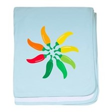 Colorful Peppers baby blanket