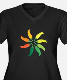 Colorful Peppers Plus Size T-Shirt