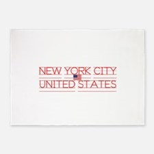 NEW YORK CITY UNITED STATES 5'x7'Area Rug