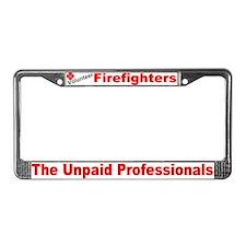 Fire Dept. License Plate Frame