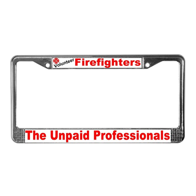 Fire Dept. License Plate Frame By Csi_mystix