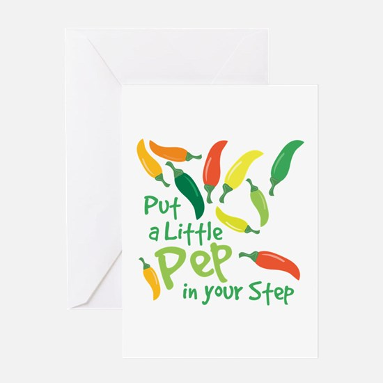 Pep In Your Step Greeting Cards
