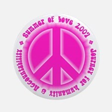 Summer of Love Pink Ornament (Round)