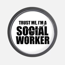 Trust Me, I'm A Social Worker Wall Clock