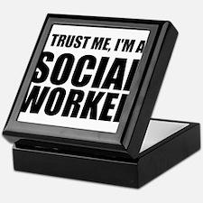 Trust Me, I'm A Social Worker Keepsake Box