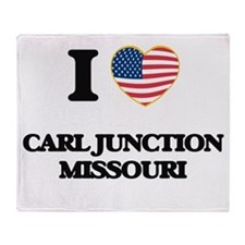 I love Carl Junction Missouri Throw Blanket