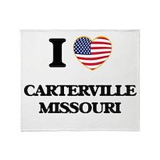 I love Carterville Missouri Throw Blanket