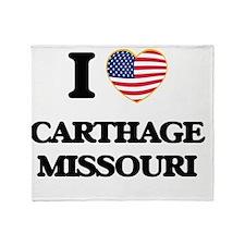 I love Carthage Missouri Throw Blanket