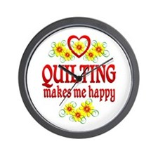 Quilting Happiness Wall Clock